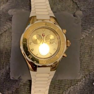 Michele Accessories - Michele White/Gold Jelly watch.